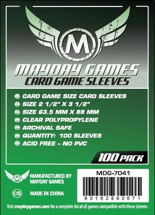 Green Label: Card Game Size Sleeves (100) 63.5x88mm