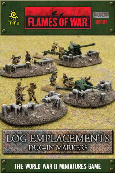 Battlefield in a Box: Log Emplacement Dug-in Markers