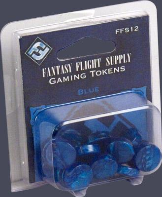 Board Game Accessories: Blue Gaming Tokens (20)
