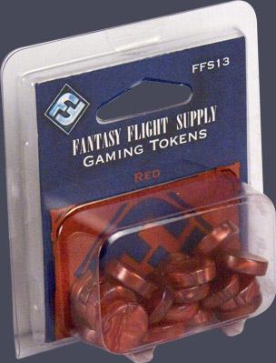 Board Game Accessories: Red Gaming Tokens (20)