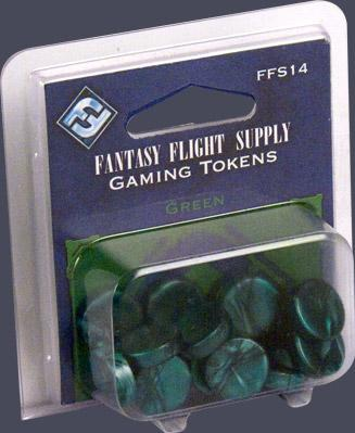 Board Game Accessories: Green Gaming Tokens (20)