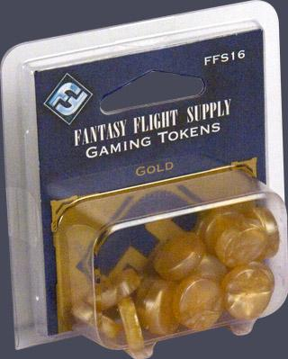 Board Game Accessories: Gold Gaming Tokens (20)