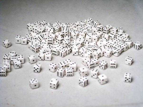 Miniature Dice: White/Black Opaque 5mm d6 (200)