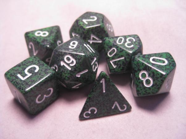 Chessex Dice: Speckled Recon Poly 7-dice Cube