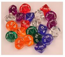 Hackmaster Dice: Purple Translucent d10,000 Set (4 dice)