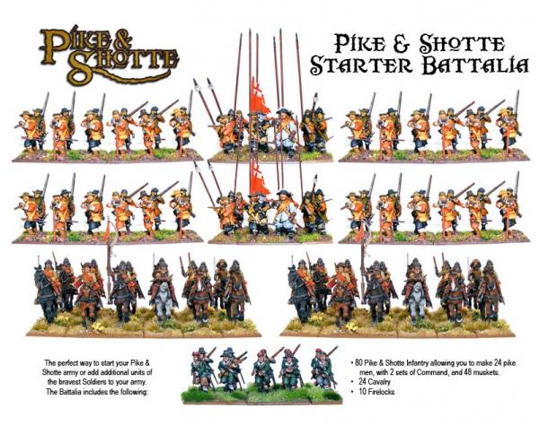 28mm Pike & Shotte - Battalia Starter Army