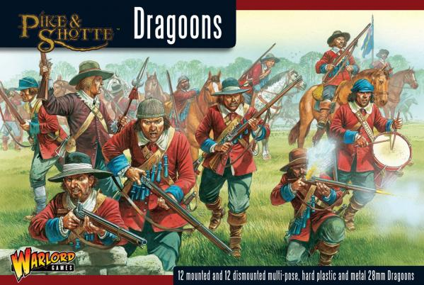 28mm Pike & Shotte - Dragoons (24) 12 ft. 12 mtd