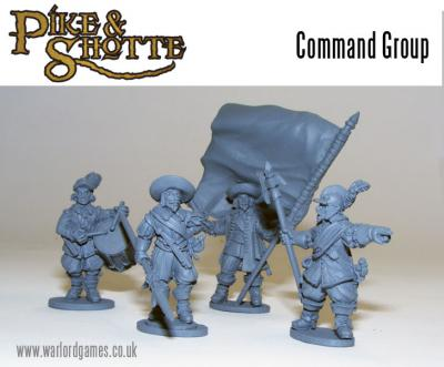 28mm Pike & Shotte - Command (4)