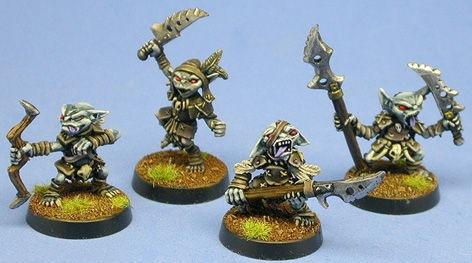 Pathfinder Miniatures: Goblin Warriors (4)