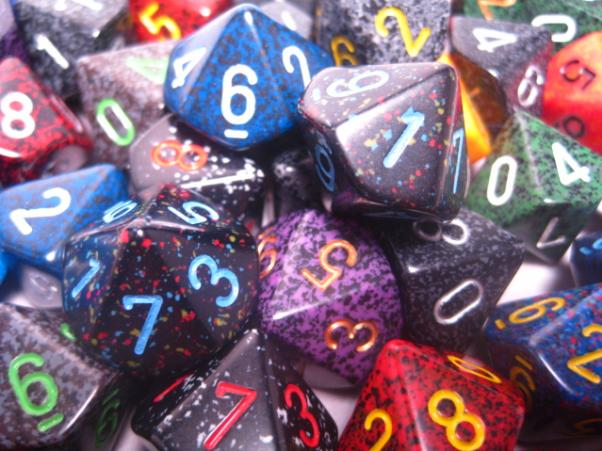 Chessex Bulk Dice Sets: Assorted Speckled d10 Bag (50)