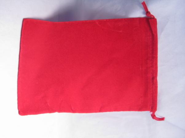 Velour Dice Bags: Large Red (5'' x 7'')
