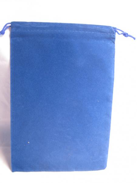 Velour Dice Bags: Large Blue (5'' x 7'')
