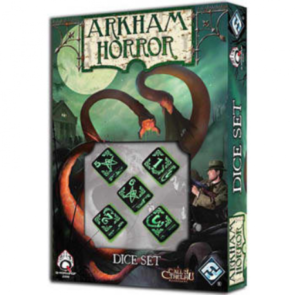 Call Of Cthulhu: Black & Green Arkham Horror Dice Set (5)