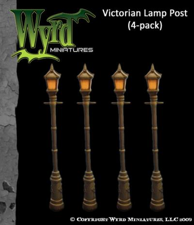 Victorian Lamppost (4 pack)
