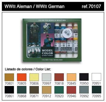 Model Color: WWII German Paint Set (16)