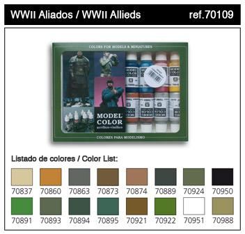 Model Color: WWII Allies Paint Set (16)