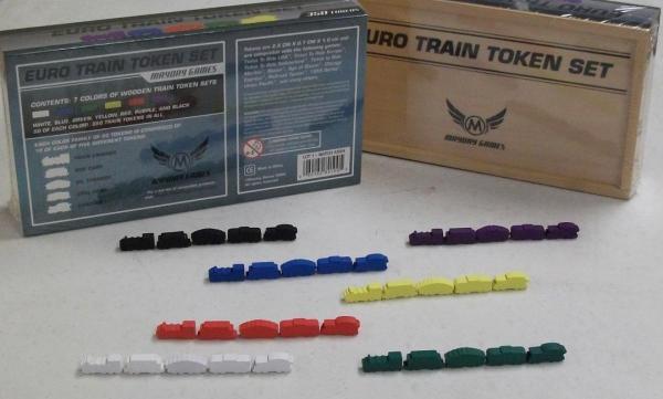 Game Accessories: Premium Wooden Train Token Set (350 Pieces)