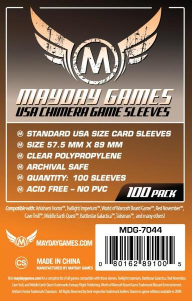 Orange Label: USA Chimera Game Sleeves 57.5 X 89 MM (100 pack)
