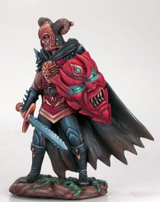Male Anti-Paldin w/Bastard Sword & Demonic Shield