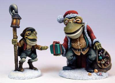Critter Kingdoms: Santa Frog & Tadpole Timmy, 2009 Holiday Tribute
