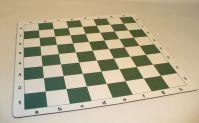 Tournament Chess Series: Green & White Thick Cloth Chess Mat