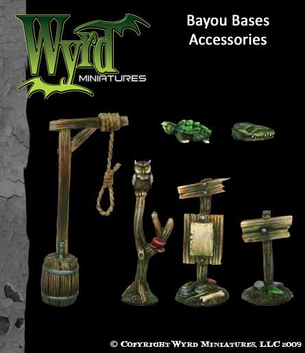 Malifaux: (Base Inserts) Bayou Accessories