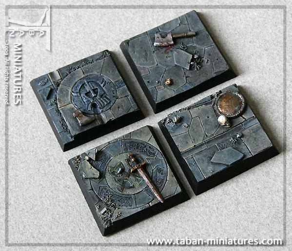 Eden 32mm - Resin Bases: Dwarven Hall Square 40mm