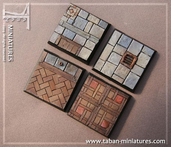 Eden 32mm - Resin Bases: Classic Castle Floor, square 40mm