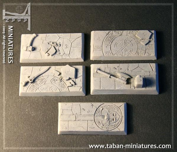Eden 32mm - Resin Bases: Dwarven Hall rectangular 25x50mm