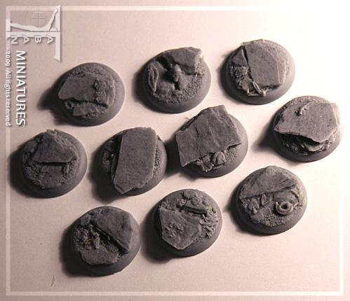 Eden 32mm - Resin Bases: Slate ground, round 25mm (round edges)