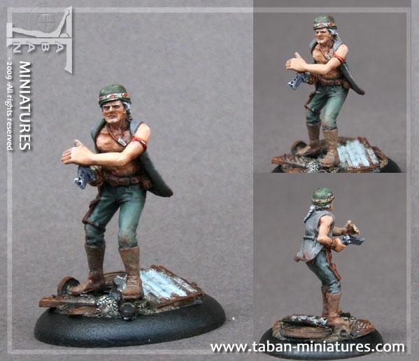 Post-Apocalypse 32mm: Emet B. Mercenary Scout