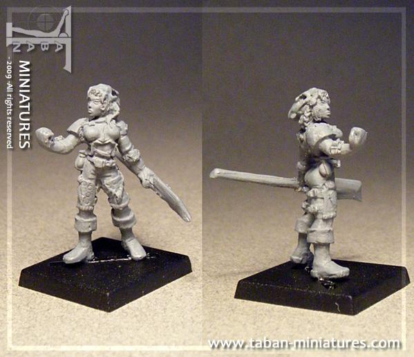 Fantasy 32mm: Female Barbarian Huntress