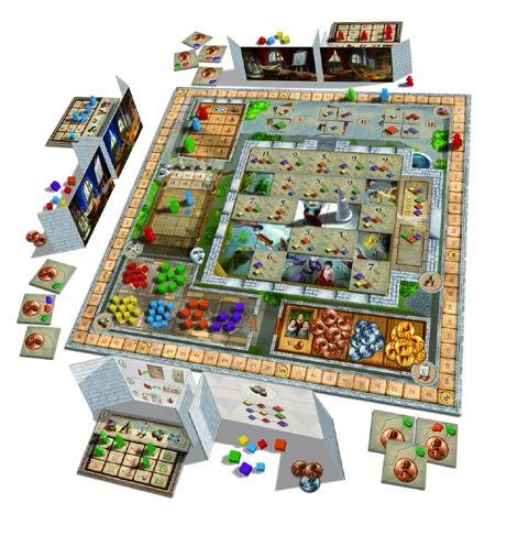 Fresco: The Colorful Family Game of Painting (Fresko) w/ Expansions 1-3