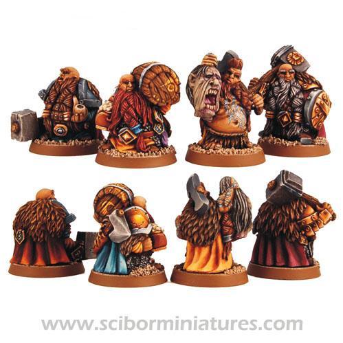 28mm Fantasy Miniatures: Dwarf Adventurers Set