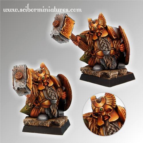 28mm Fantasy Miniatures: Dwarf Ducal Guard # 2