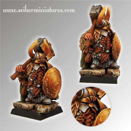 28mm Fantasy Miniatures: Dwarf Ducal Guard # 3