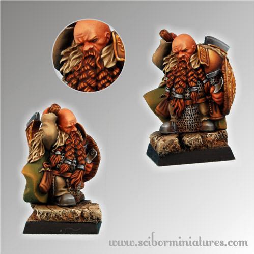28mm Fantasy Miniatures: Dwarf Ducal Guard # 7