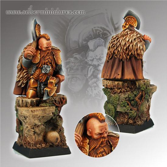 28mm Fantasy Miniatures: Dwarf Champion