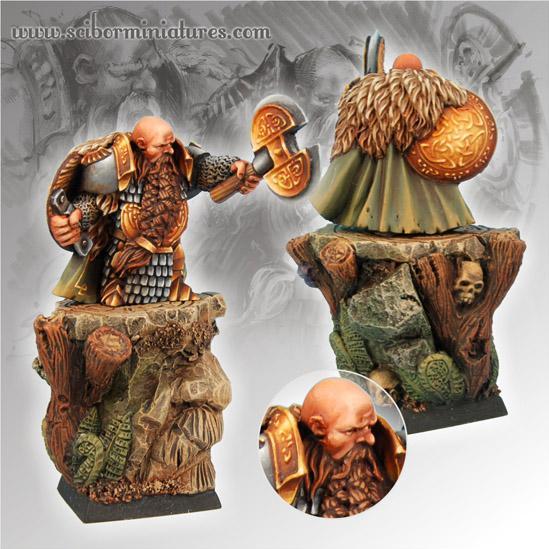 28mm Fantasy Miniatures: Dwarf General