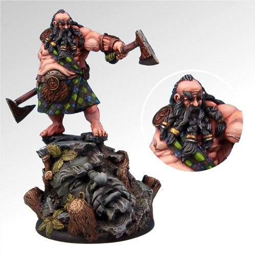 54mm Fantasy Miniatures: Gair the Highlander