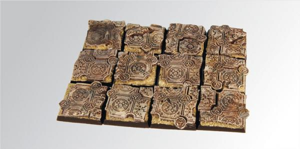 Square Bases: Ruins 25mm (5)
