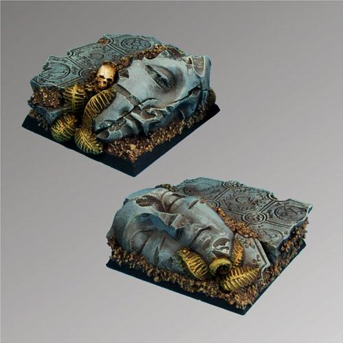 Square Bases: Ancient Ruins 40mm (2)