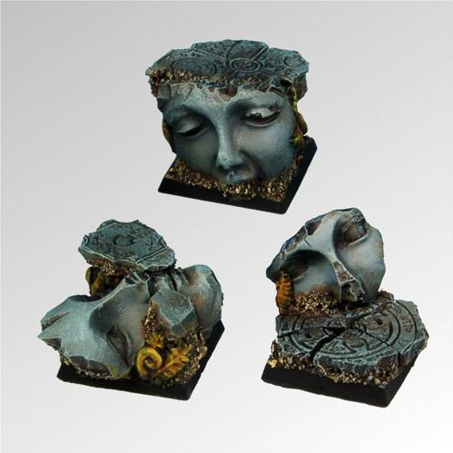 Square Bases: Ancient Ruins 25mm (3)
