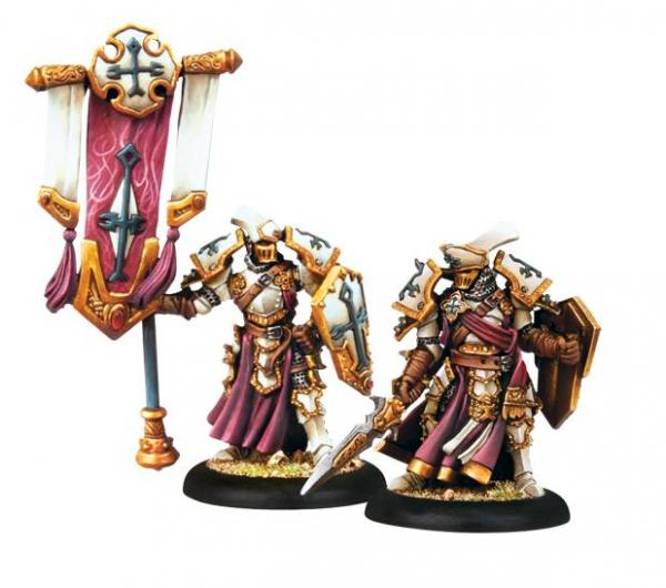 Warmachine (The Protectorate Of Menoth) Exemplar Errant Officer & Standard Bearer