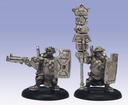 (Mercenaries) High Shield Gun Corps Officer & Standard Bearer