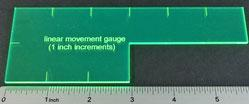 Gaming Template: 1'' Linear Gauge (Fluorescent Green)