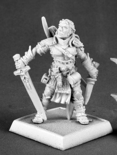 Pathfinder Miniatures: Valeros, Male Iconic Fighter (v2)