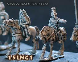 Hostis (15mm Ancient): Lombard Mounted Command (4 mtd. Figures)