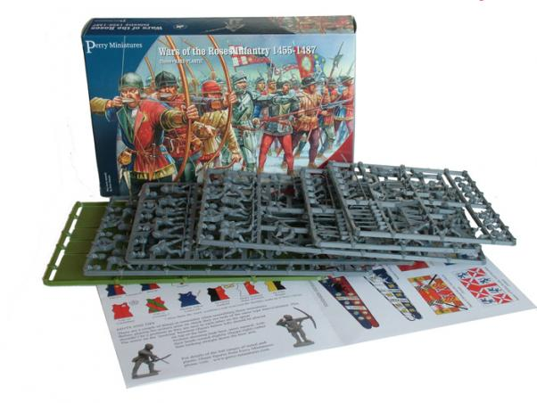 28mm Wars Of The Roses: Infantry 1455-1487 (Plastic)