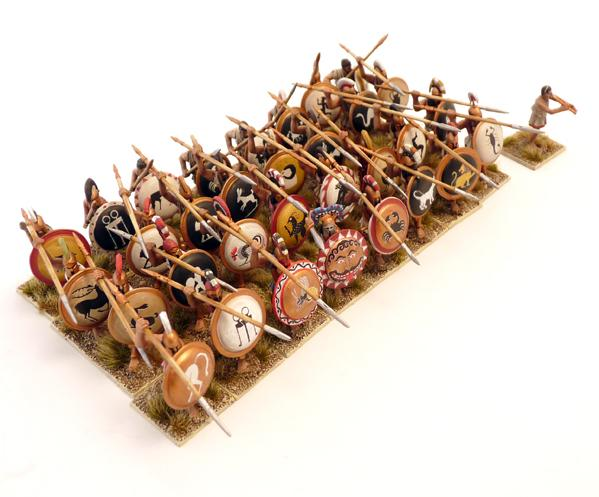 28mm Ancients Miniatures: Ancient Greek Hoplites Plastics Box Set (34)
